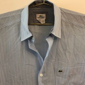 Lacoste slim tailored fit striped button down